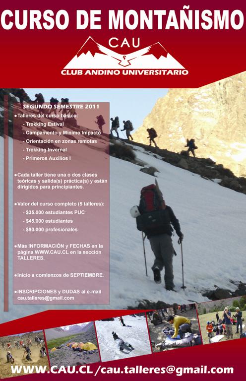 Afiche Talleres CAU segundo semestre 2011 MAIL