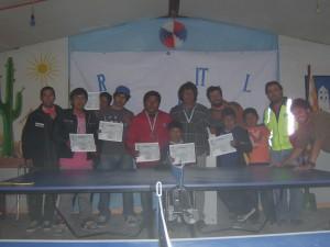 Premiación campeonato de ping pong